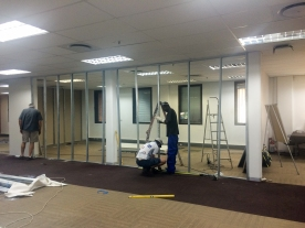Training rooms being constructed