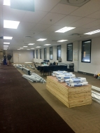 Before: The conference room and dining area/relaxation area