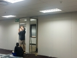 Fitting the door frame