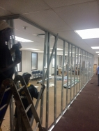 Walls being constructed
